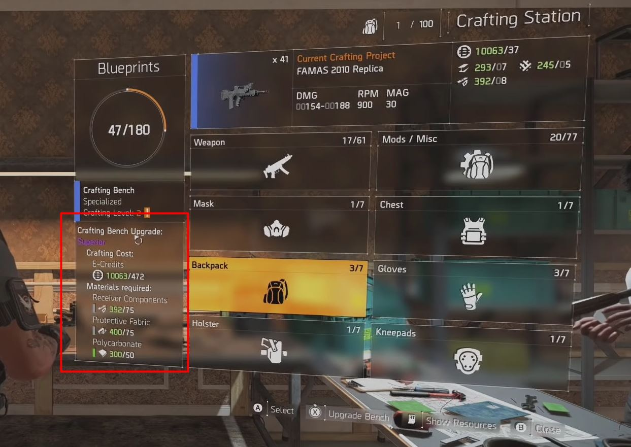 The Division 2 Crafting Guide How To Craft Superior Purple Or High End Orange Weapons And Gear Frondtech